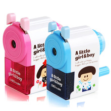 Deli 0641 High quality Fashion Cute Cartoon Pencil Sharpener Student kids Painting Hand-Cranked Pencil Sharpener gifts prize