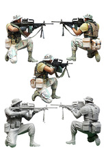 [DIWEINI] 1 35 scale resin model figures kit  US special forces operators one