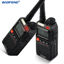 BAOFENG UV-3R+ Walkie Talkie VHF/UHF Dual Band UV-3R Plus Portable Walkie Talkie with Headset UV3R Two Way Ham Radio Tranceiver(China)