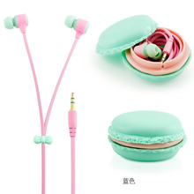 Macarons Design Earphone Headphones Headset for Xiaomi Samsung Iphone MP3 Player Cute Ecouteur Auriculares fone de ouvido