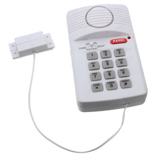 Brand New High Quality Security Keypad Door Alarm System With Panic Button For Home Shed Garage Caravan(China)