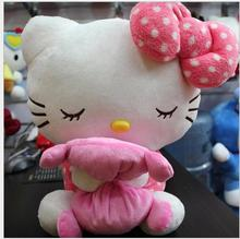 New arrival baby toy 18cm-20cm plush cat kawaii hello kitty toys plush girl doll cartoon dolls animal toys Sleeping Kitty