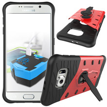 For Samsung Galaxy S6 Edge Plus G9280 Phone Case Shock proof 360 swivel bracket Netted heat dissipation Armor Phone Case Cover