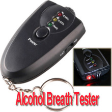 factory store mini alcohol tester with key chain and portable gife alcohol detector with flashilight startlight free shipping