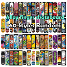60 Styles Alloy Stand FingerBoard Mini boards 1 pcs With Retail Box Skate trucks Finger Skateboard for Kid Toys Children Gift F4(China)