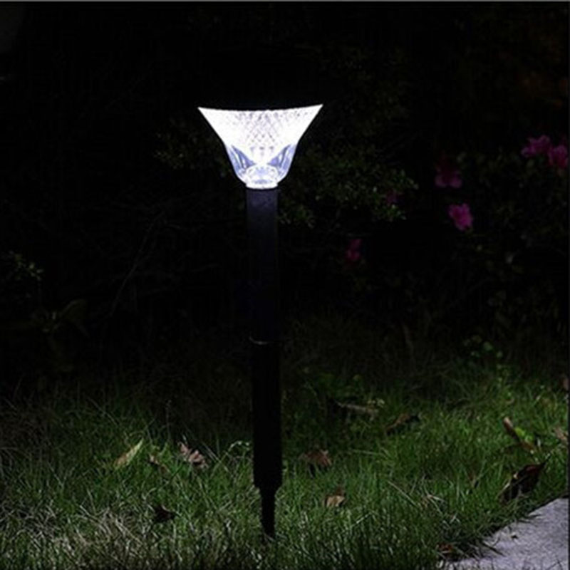 Solar Power Path Lights LED Garden Stake Light Lawn Spot Lamp for Outdoor Landscape Yard,Patio,Deck,Pathway,Hallway,Garden,Path(China (Mainland))