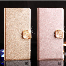 Luxury Wallet PU Leather Case Cover for Samsung Galaxy S2 I9100 SII Case Flip Cover Phone Bag with diamond buckle
