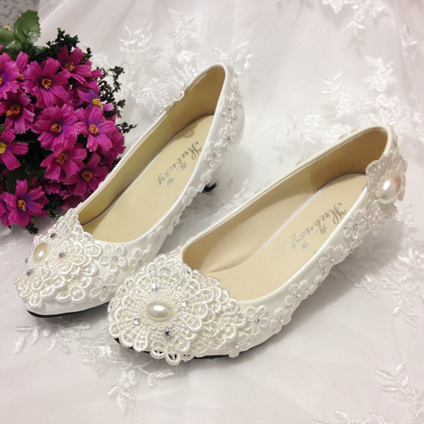 Hand made wedding shoes lace bride wedding shoes crystal beading beads  white lace bridesmaid shoes banquet formal dress shoes<br><br>Aliexpress