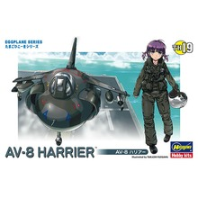 OHS Hasegawa 60129 Q Versin AV8 Harrier Egg Plane Assembly Airforce Model Building Kits(China)
