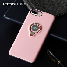 Back Cover For iPhone 7 Case ICONFLANG 360 Degree Rotating Metal Ring Cases TPU+PC Alloy Anti-drop For iPhone 7 Plus Cover Case(China)