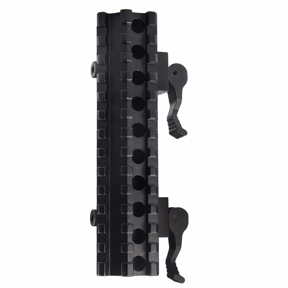 Airsoft Long Quick Detachable Double Rail Angle Weaver Picatinny Mount Integral QD Lever Lock System 13 Slots For Hunting RL1-0012-4