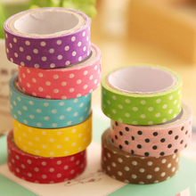 1 PCS Polka Dots Patterned Washi Paper Decorative Masking Tape DIY Scrapbook Adhesive Sticker Tape