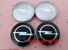 4pcs Free shipping 56.5mm 60mm Opel wheel center hub cap cover emblem car styling for Astra Mokka Insignia Zafira Corsa Tigra