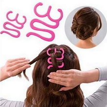 JETTING Hair Braiding Tool Roller With Hook Magic Hair Twist Styling Maker Plastic Hair Roller Styleing Tools