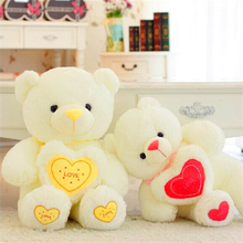 Good Sales Plush Toys Large Size 110cm Heart Teddy Bear Big Embrace Bear Doll Valentine New Year Gifts Birthday Gift(China)