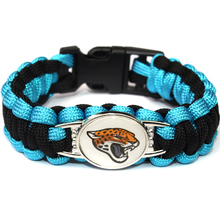 2017 Hot New NFL Football Fan Jacksonville Jaguars Charm Paracord Survival Bracelet Friendship Outdoor Camping Bracelet 6pcs/lot