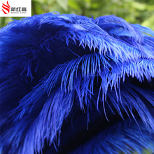 50 pcs nature royal blue ostrich feather 40-45 cm/16-18 Inches wedding decoration ostrich plume high quality free shopping(China)