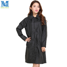 Dot Women Raincoat With Hood Trench Coat Style Impermeable Rainwear Waterproof Rain Coat