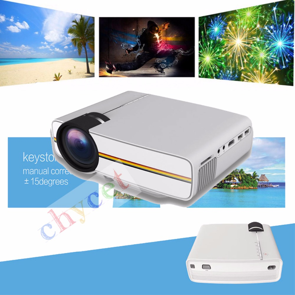 Newest YG400 Projector Multimedia portable Mini LED Projector 1000 Lumens home theater PC USB HDMI AV VGA SD for Home Cinema<br><br>Aliexpress