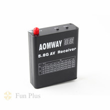 Aomway 5.8G 32CH AV Audio Video Receiver DVR Recorder for FPV RX with Cables Antenna