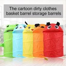 2017 Useful Cartoon Design Animals Shape Kids Children Pop Up Clothes Storage Basket Home Toys Shoes Storage Organizer Basket