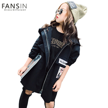 Buy FANSIN Brand 2017 2 Color Girls Jackets Coats Clothing New Kids Trench Hooded Coat Girl Long Jackets Autumn Children Clothes for $20.76 in AliExpress store
