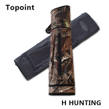 Topoint Fashion handsome  New Hand Crafted Leather Archery Quiver Slung on Shoulder Oxford cloth Holding camouflage black Color