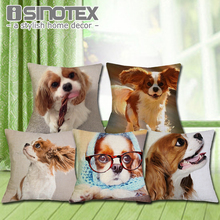 Cavalier King Charles Spaniel Cushion Cover 43X43cm Pillow Cases Pillowcase Bedroom Sofa Home Decoration(China)