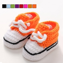 Crochet Shoes Knitted Baby Shoes Comfy Soft Infant Walking Shoes Prewalker Unisex Newborn First Walkers Handmade Footwear