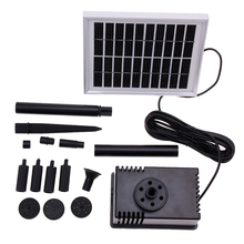 10V/2W Mini Solar Water Pump Landscape Decorative Pool Solar Pump Garden Fountains Submersible Water Pump Kit