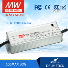 100% Original MEAN WELL HLG-120H-C500A 150V ~ 300V 500mA meanwell HLG-120H-C 150W LED Driver Power Supply A Type