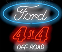 "Ford 4 X 4 Off Road  Glass Tube Car neon sign Businese Handcrafted Automotive Shop Store Signs Signboard Signage 19""x15"""