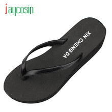 New Hot Casual Summer Girls Wedge Platform Flip Flops Women Beach Sandals Slippers 17Mar17