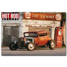 NICOLESHENTING Hot Rod Muscle Car Art Silk Fabric Poster Print Classic Car Pictures For Living Room Decor 015
