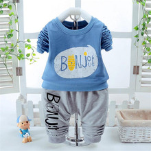 New Spring Fashion Toddler children trend clothing set boys cartoon full T-shirt pants Summer Casual suit baby kids clothes(China)