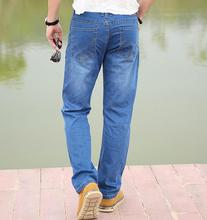 New Men jeans denim casual loose Straight Cotton Leisure Men's Jeans big size 30-42 recommended products(China)