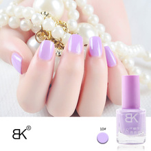BK Brand Fragrance Stamping Nail Polish Long Lasting Quickly Dry Nail Lacquer Sweet 48 Pure Colors Stamp Enamel Paint 8ml