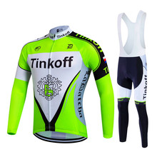 2017 Pro Team Tinkoff Cycling Jersey Long Sleeves Sports Jersey Cycling Clothing Ropa Ciclismo Maillot Bike Clothes