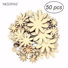 50pcs Eco-friendly Plum Embelishment Decorative Natural Wooden Buttons Cute Flower Scrapbooking Sewing Accessories(China)