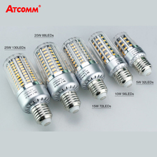 E12 E14 E27 LED Corn Bulb 5W 10W 15W 20W 25W SMD 5736 High Lumen Ampoule LED E27 E14 Diode Light Lamp Flicker-Free 85-265V(China)