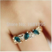 Hot Sales fashion Vintage created gemstone Crystal ring for Women Jewelry--CRYSTAL SHOP Free shipping(China)