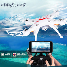 Abbyfrank RC Real-time Transmission Helicopter Drone 0.3MP Camera 2.4G RC Toys 4 CH 6 Axis Gyro Quadcopter With Camera Drone(China)