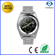 Metal stainless steel belt MTK2502 bluetooth Smart Watch Sports Fiteness phonewatch With Heart Rate Monitor for Android iOS