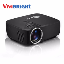 ViviBright GP70 G90 LCD Projector 1200 Lumens Support 1920x1080P Analog TV LED Projector MINI beamer for Home Cinema Dual HDMI(China)