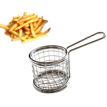 Electroplate Stainless Steel Mini Frying Net Square Block Filter Quality Steam Rinse Strain Fry Basket Kitchen Cooking Tool &EY1