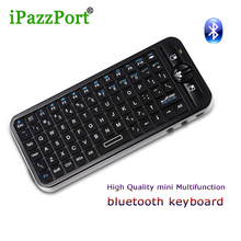 iPazzport Mini Wireless bluetooth Keyboard standard QWERTY keyboard 125.8X56.5X13m for Smart TV PC tablet Android TV Set Top Box(China)
