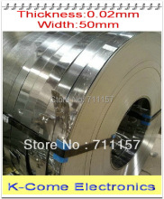 0.02mm Thickness 50mm Width 5M/lot Stainless Steel Sheet Plate Leaf Spring Stainless Steel Foil The Thin Tape Free Shipping