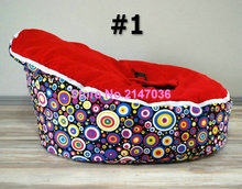 Rainbow DOTS Baby bean bags bed baby sleeping beanbag chair Newborn sofa cama baby bed sofa with harness Filler do not included