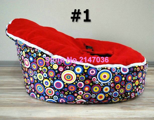 Rainbow DOTS Baby bean bags bed baby sleeping beanbag chair Newborn sofa cama baby bed sofa with harness Filler do not included<br>