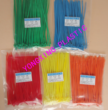 "400pcs/lot 2016 new 100pcs red yellow blue green 6"" 2.0x150mm Network Nylon Plastic Cable Wire Zip Tie Cord Strap bundle cable(China)"